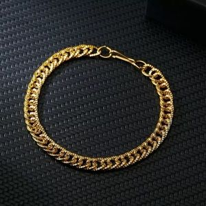New Gold Bracelet Punk Statement Unisex